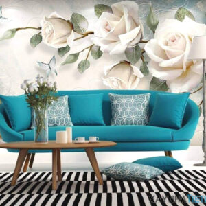 Gạch tranh trang trí ốp tường 3D Hoa hồng