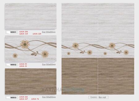 Gạch ốp tường Vicenza 30x60 365031-365032-365033