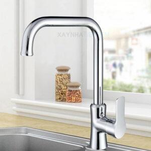 Vòi rửa chén đồng thau mạ Crome KASAI KS-016S