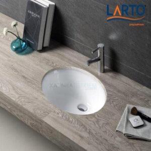 Chậu rửa mặt Lavabo LARTO LTLVB 8013 hình elip