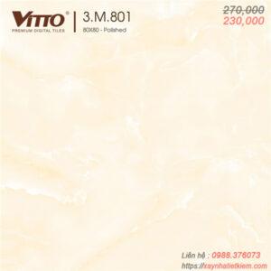Gạch lát nền bóng kính Vitto 80x80 801